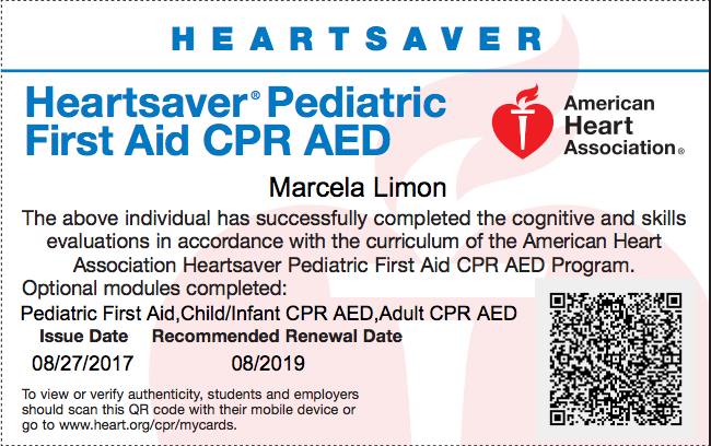 Heartsaver Pediatric First Aid CPR AED