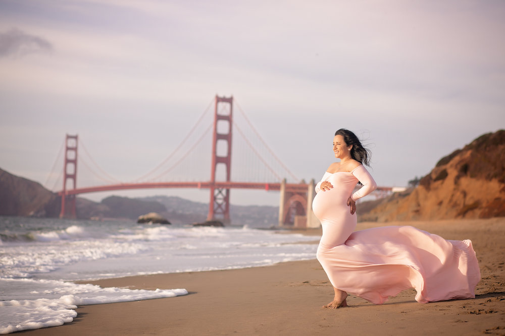 san francisco maternity photo shoot