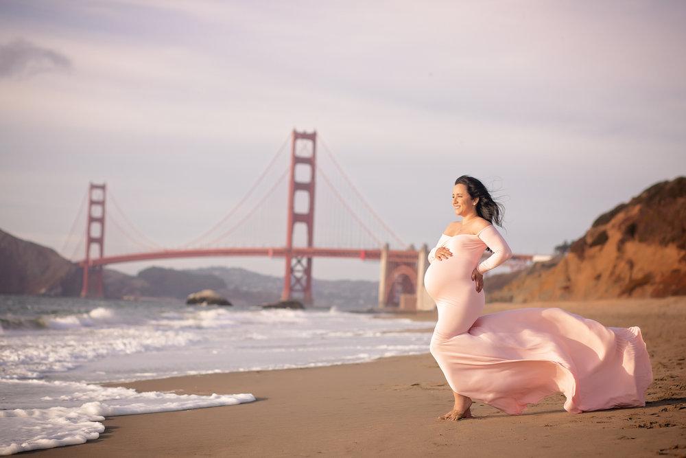 san francisco maternity photo shoot