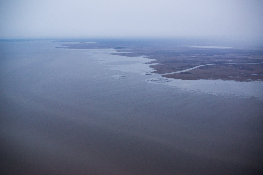 This ongoing photo project represents my time in the Athabasca region. It mixes photos of the social life of the Athabasca region with photos of the oil sands industry to show the complexity of the place and changing yet continuous relationships with the land. Embarras River, Lake Athabasca, October 2017.