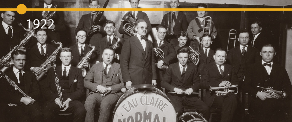 One of the school's earliest bands is seen in this image from 1922.