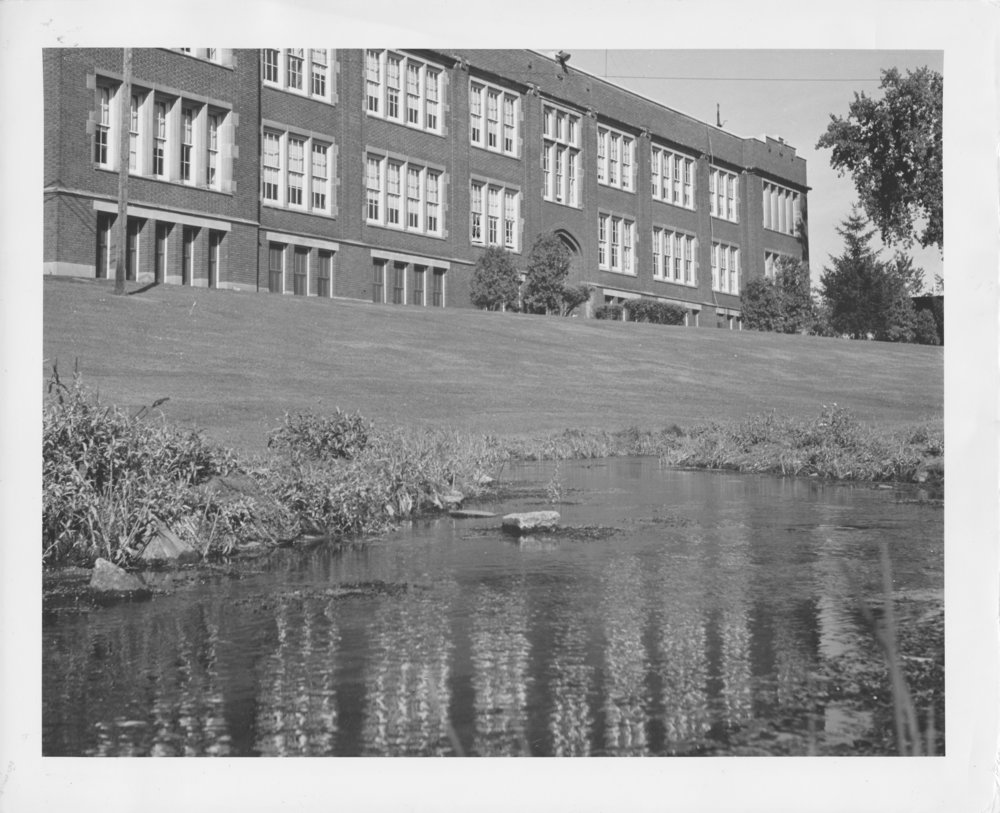 Creek prior to Davies constructions, ca. 1940's