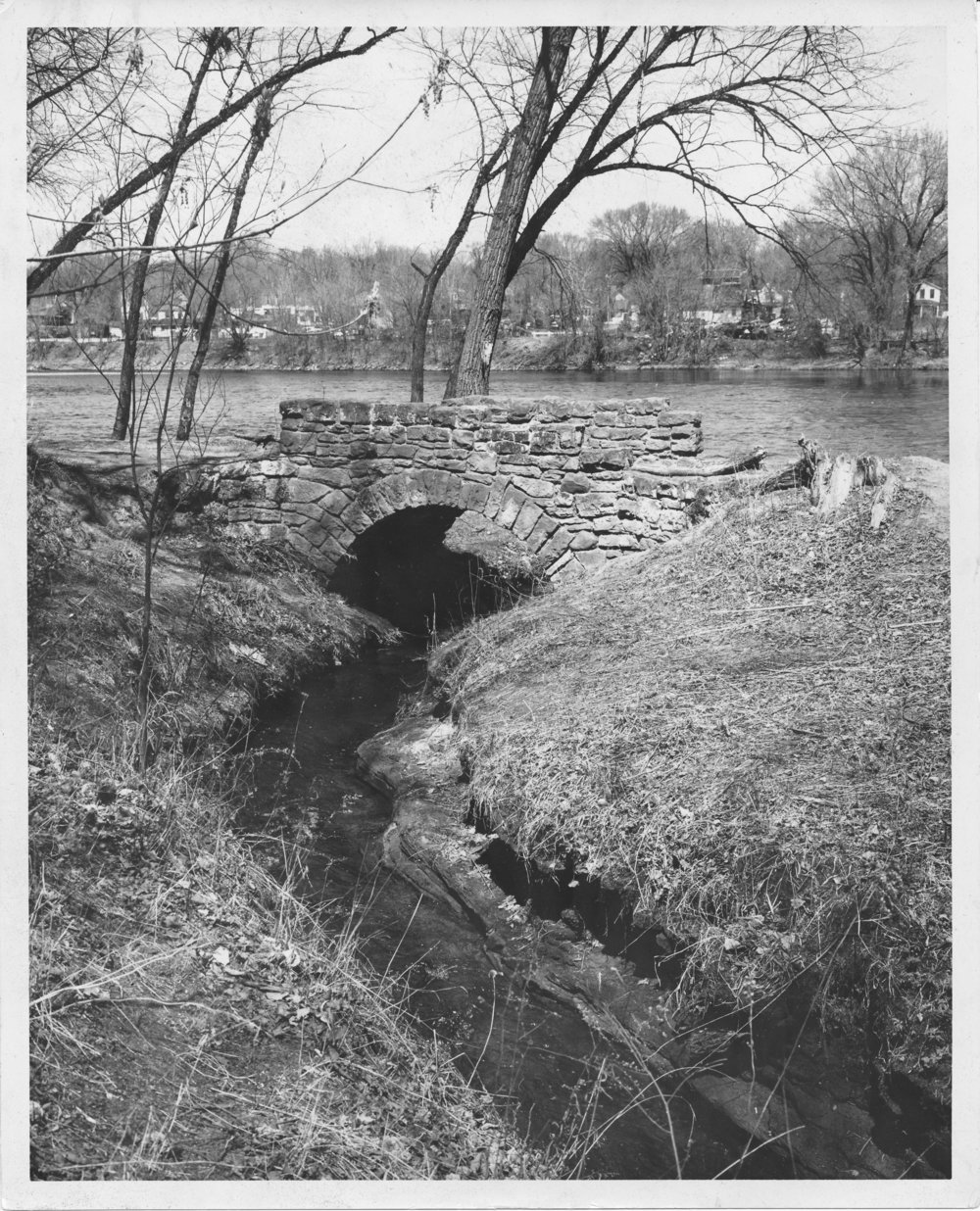 Stone bridge near the falls, ca. 1950-60's