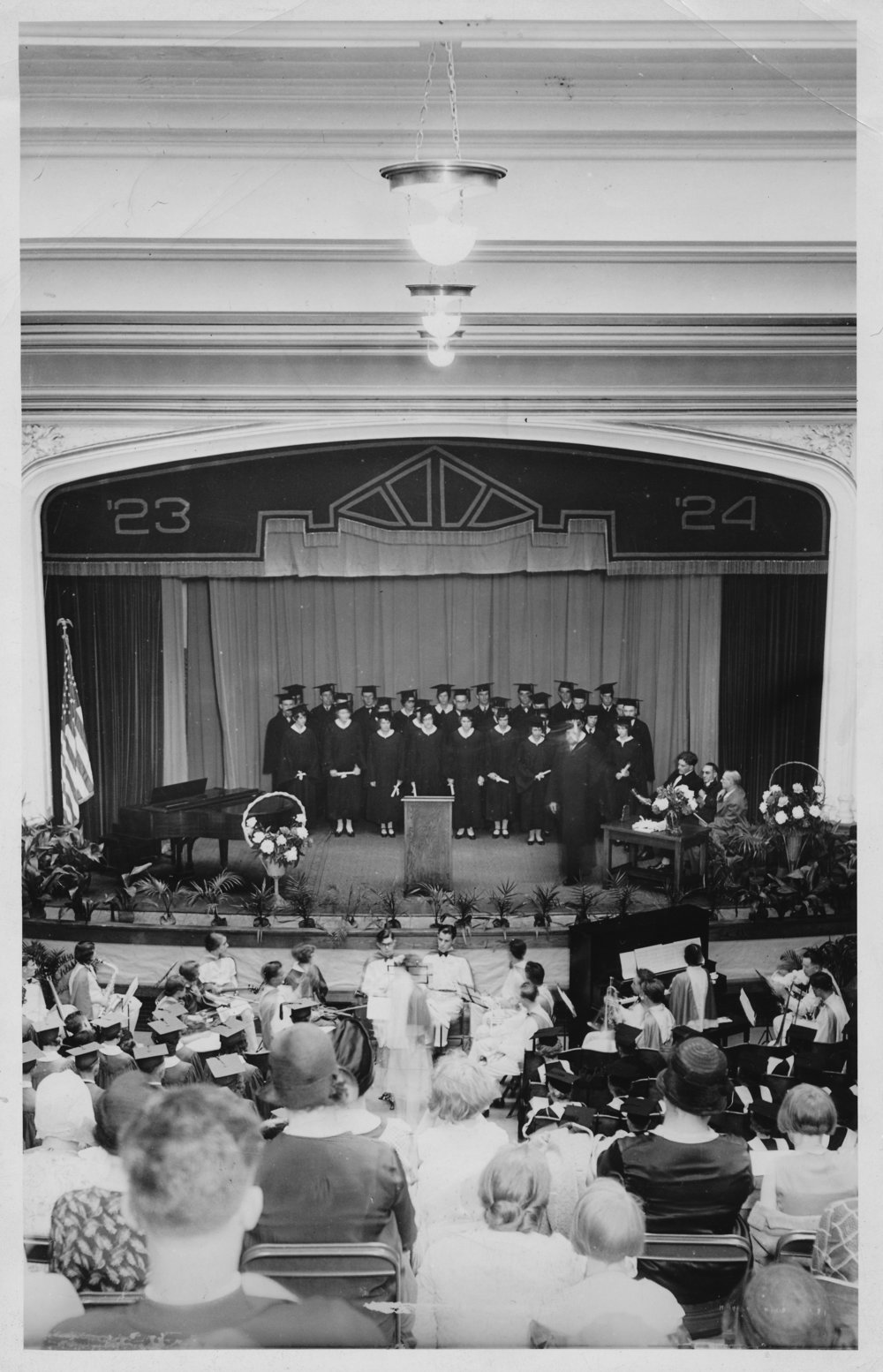 Graduation ceremony in Schofield Hall, 1931