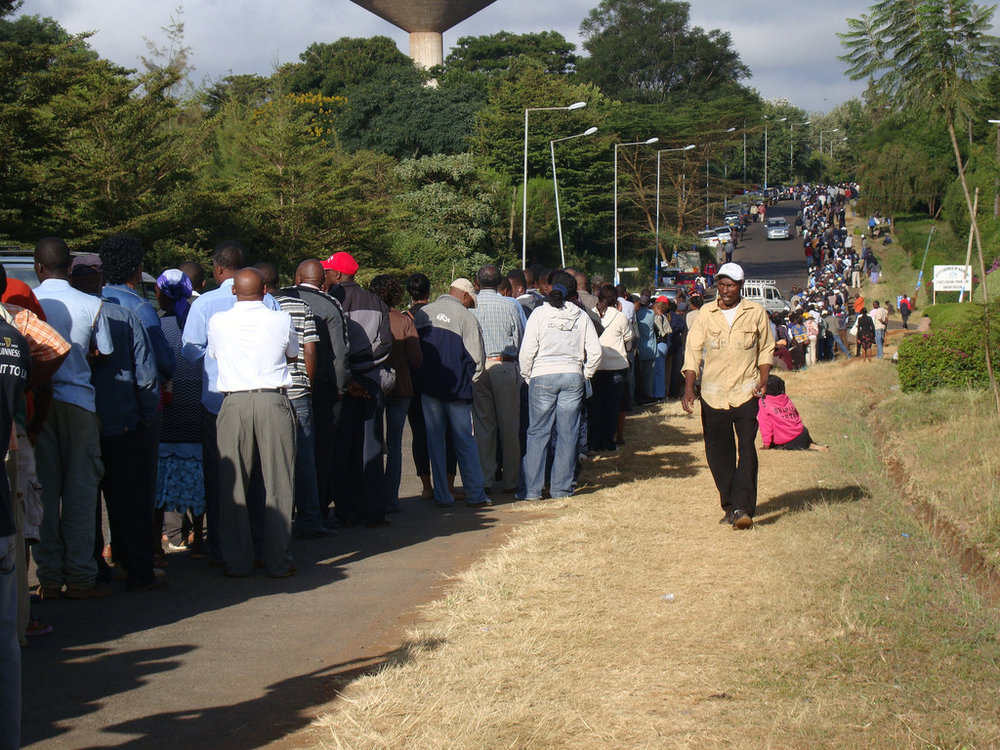 Lines to vote across Kenya can be miles long and the wait several hours
