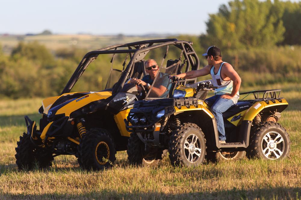 ATVing around Blackstrap Lake, Saskatchewan lake property