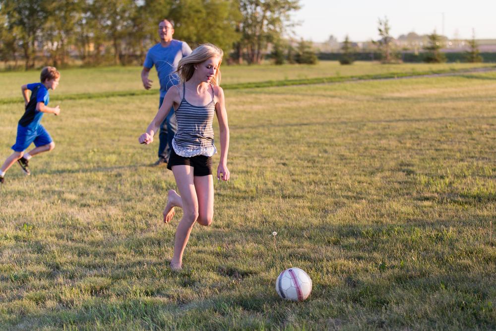 Kids at play at a home at  Midnight Sun Estates.