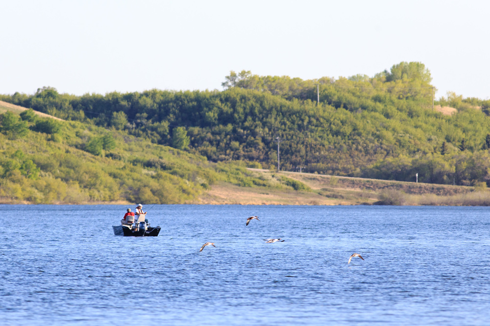 Fishing on the Lake somewhere outside of Saskatoon Area, Blackstrap Lake