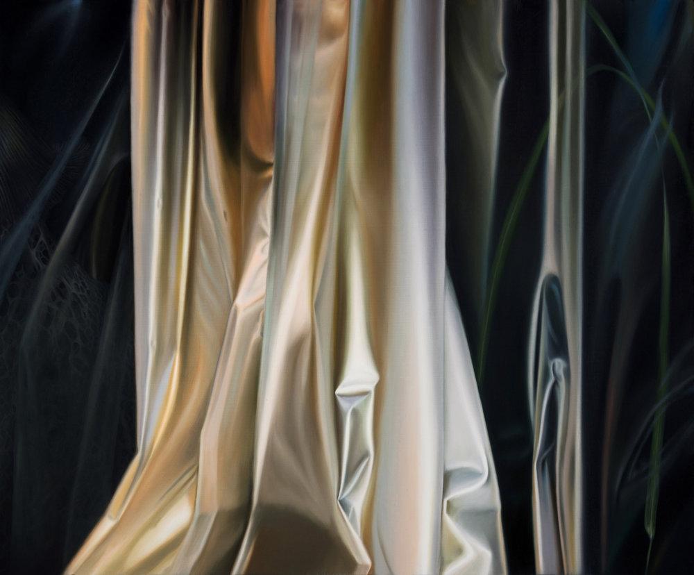 Untitled, 2017. Oil on board, 36 x 31 cm