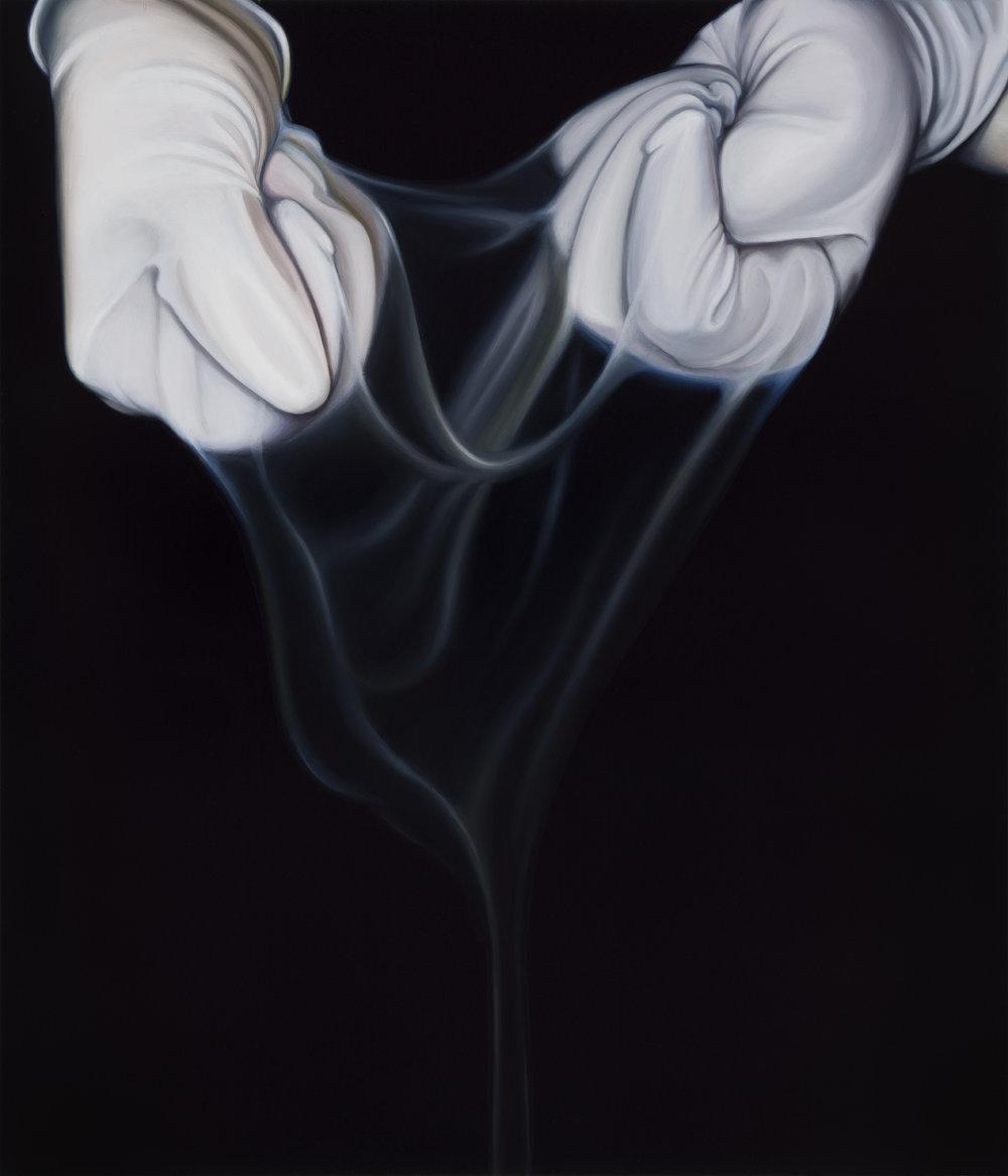 Untitled, 2016. Oil on board, 35 x 30 cm