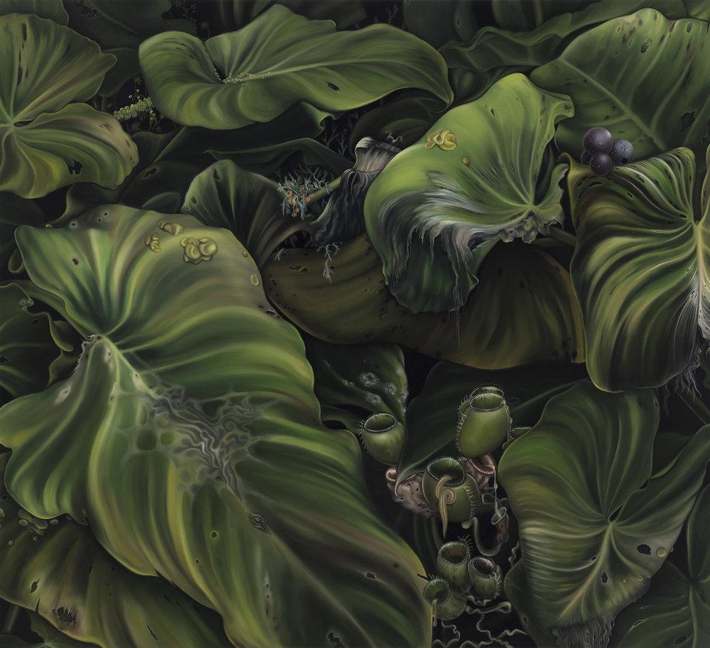 Untitled, 2012. Oil on board, 40 x 44 cm