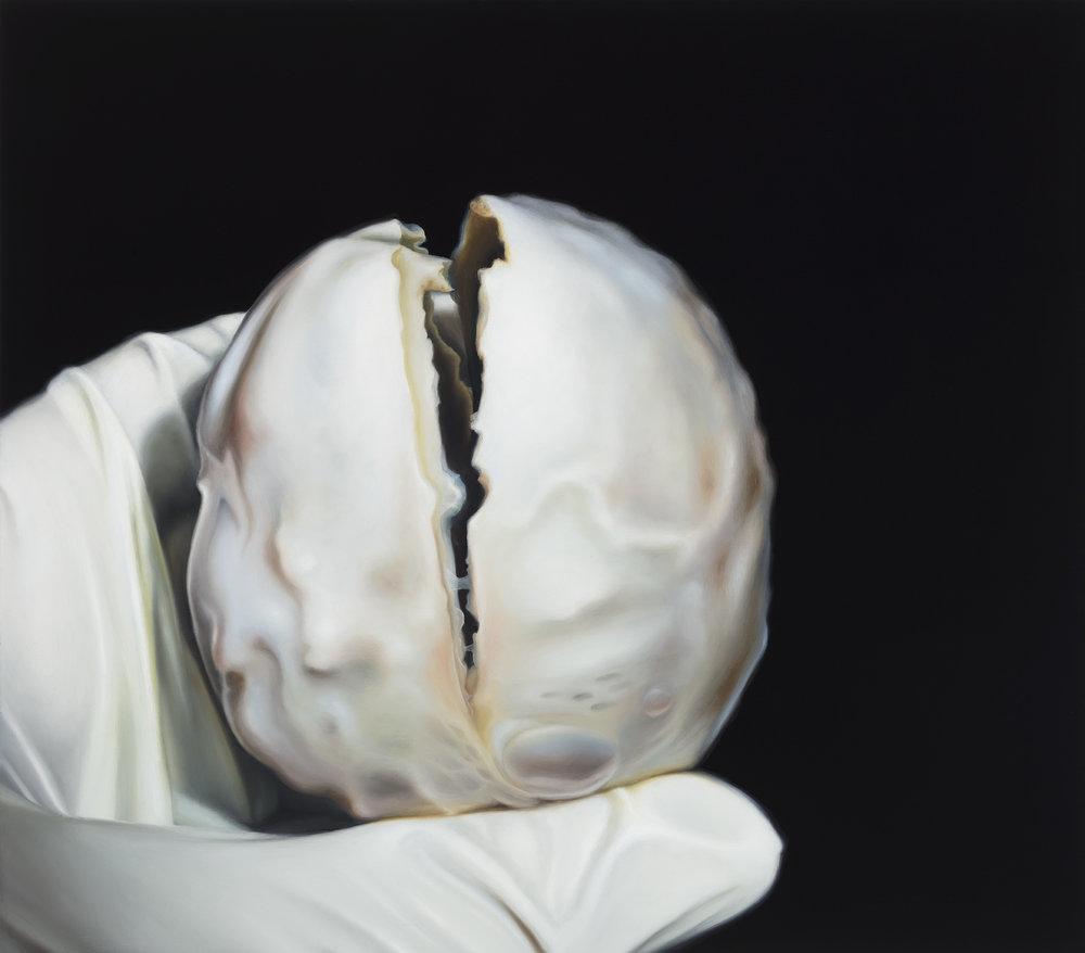 Untitled, 2017. Oil on board, 22 x 25 cm