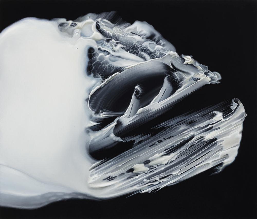 Untitled, 2017. Oil on board, 28 x 33 cm