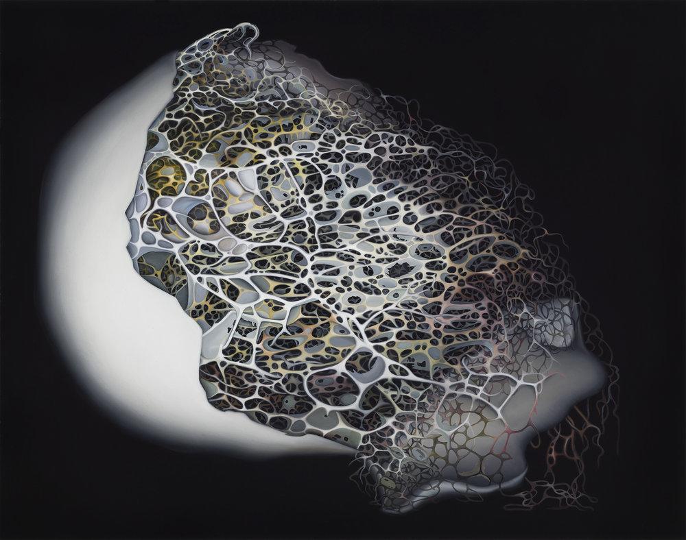 Untitled, 2015. Oil on board, 30 x 38 cm