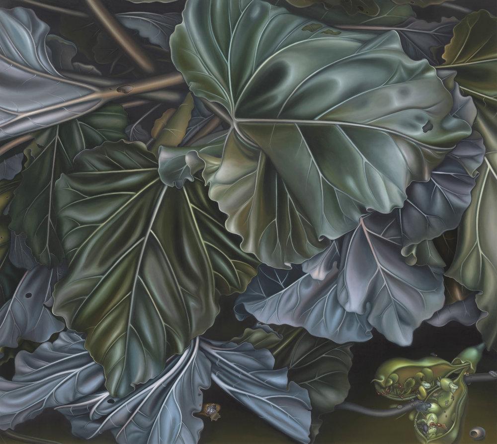 Untitled, 2012. Oil on board, 38 x 42 cm