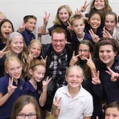 Youth Motivational Speaker Jeff Veley with Elementary Students after Anti-Bullying Assembly.jpg