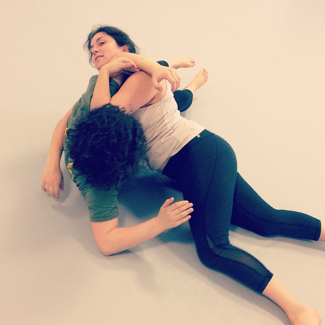 Sara and Rose get to grips at a fun Sunday afternoon class in Chapel Hill