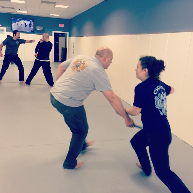 Fast-paced knife work at the Sunday hangover class in Chapel Hill