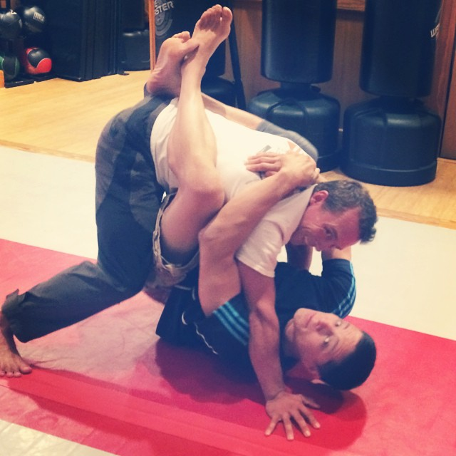 Loaded crawling warmup, or highly suspect Jiu Jitsu? You decide…