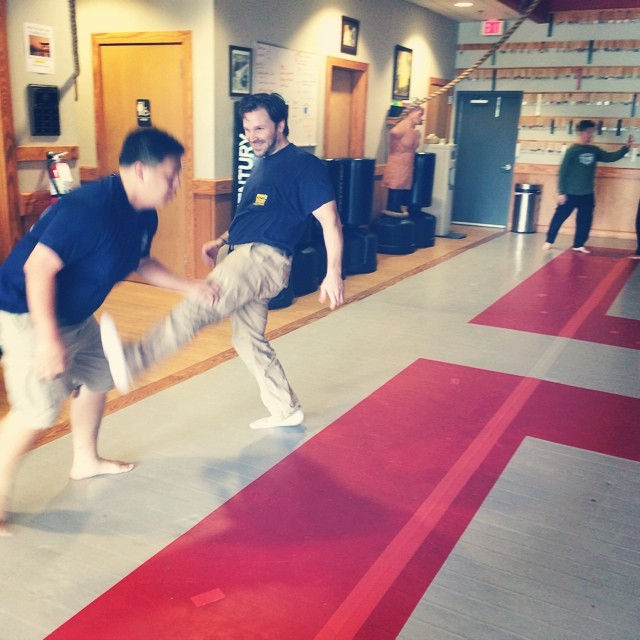 Rich takes on Nguyen at a foot-focused Sunday class in Chapel Hill