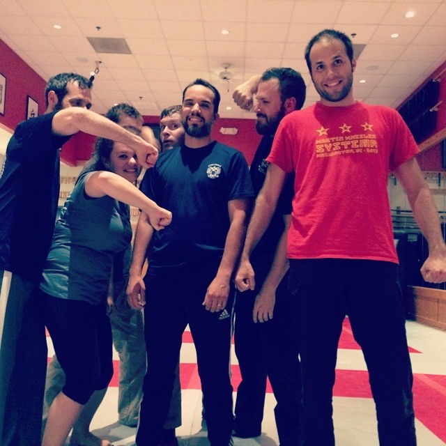 Happy 40th birthday to longtime NC Systema member Sam Wolff. The Crew gave him the (now) traditional 40 strikes to round off tonight's class. He was smiling. I think.
