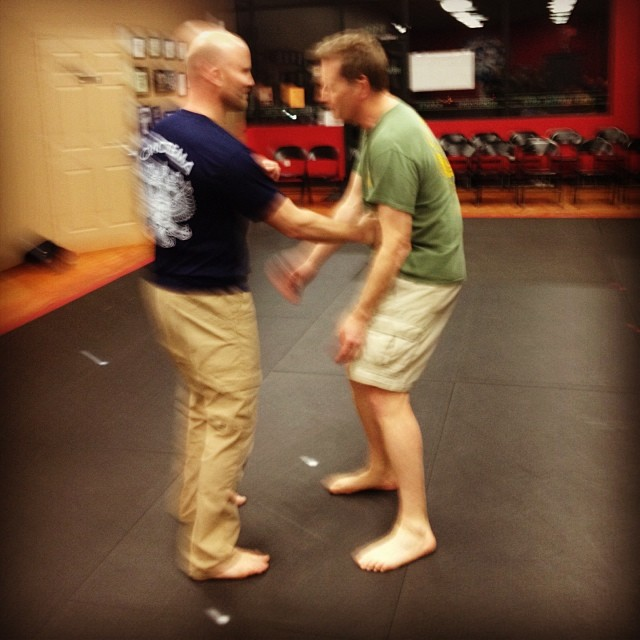 Short strikes and absorption, at the Wednesday night class in Clayton