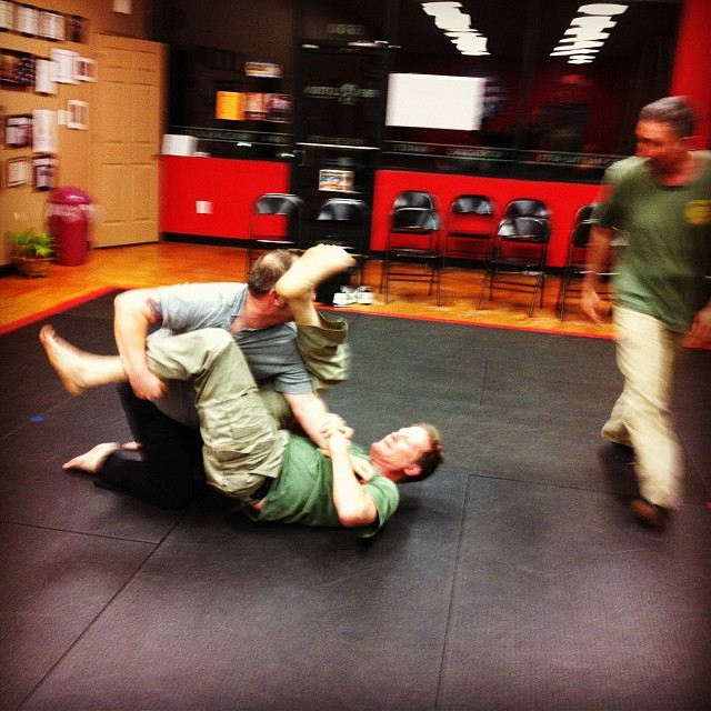 Grappling with intuition, at the Wednesday night class in Clayton