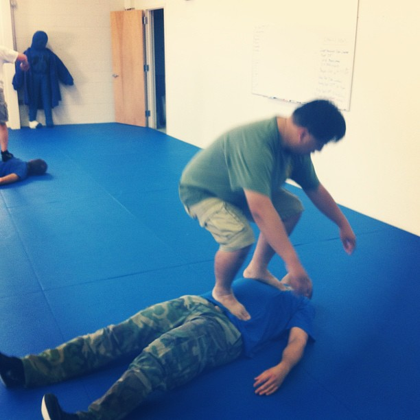 Bryan and Nguyen warming up for the seminar with Martin Wheeler this weekend.