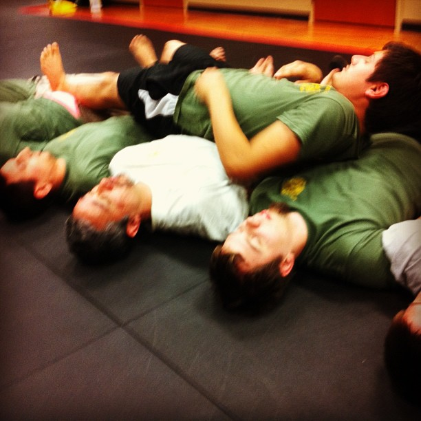 The Clayton gang get their crawl on at Revolution Self Defense