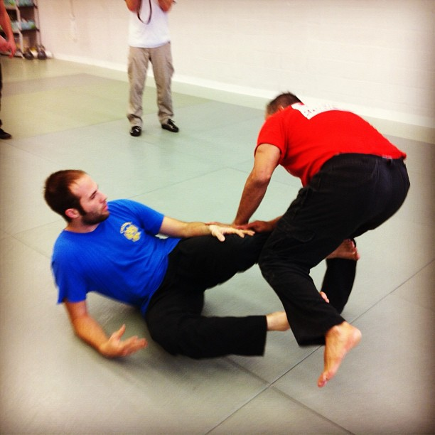 Brian representing NC Systema well at Systema HQ, versus the formidable Frank Arias