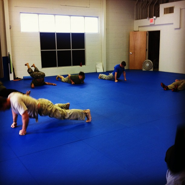 Good turnout for the hangover class today, in spite if last night's Raleigh-based shenanigans.