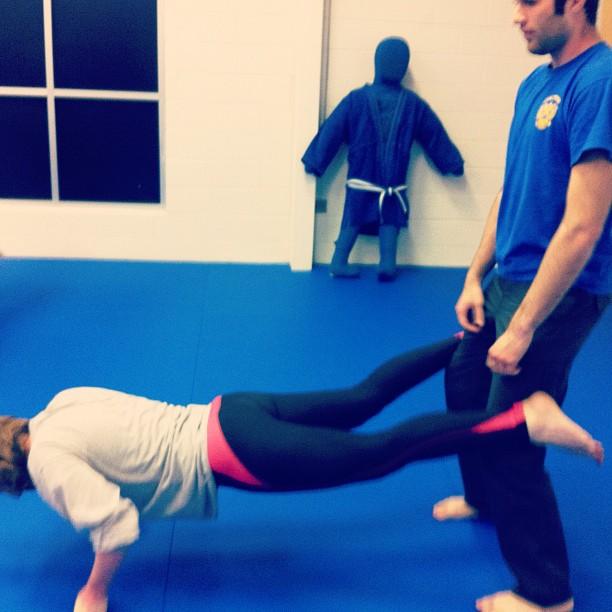 Epic pushups with Ashley.
