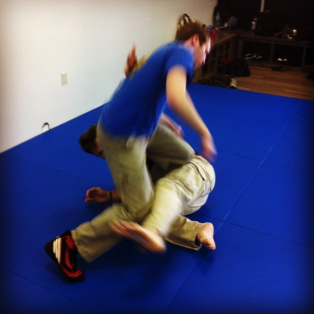 Takedowns from the ground, at the Quest Center Sunday class