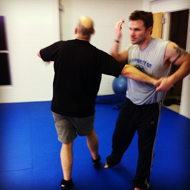 """Diesel Brothers"" Rich and Russ working some elbow strikes"