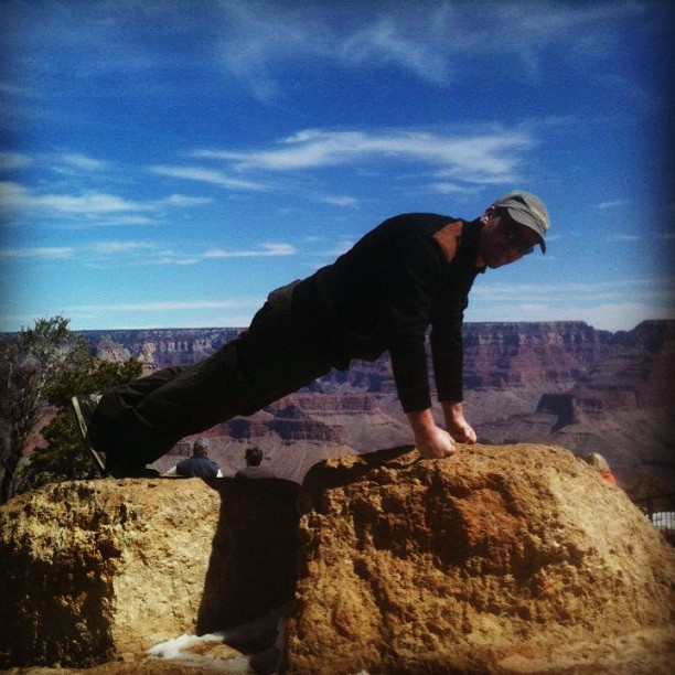 Forward leaning rest, Grand Canyon, March 2012