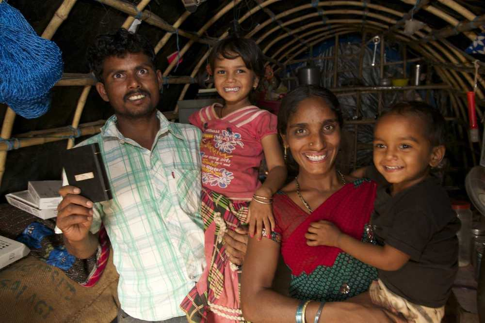 Posibabu and Subhadra are joyful that their children will grow up with the knowledge of God.