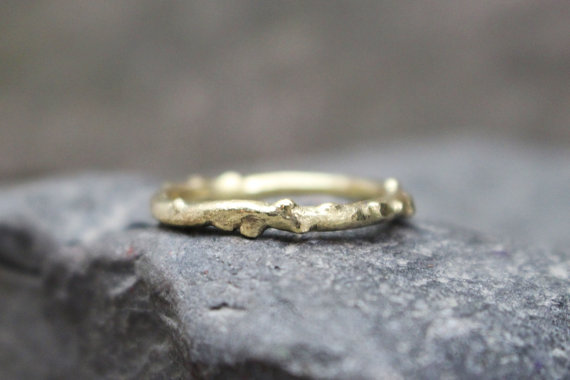 14k Gold Twig Ring
