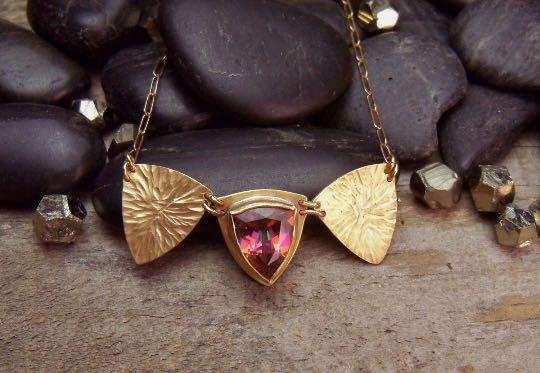 Aztec Topaz Hammered Brass Necklace.jpg