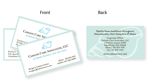 Print cici spaulding design business cards home healthcare colourmoves Images