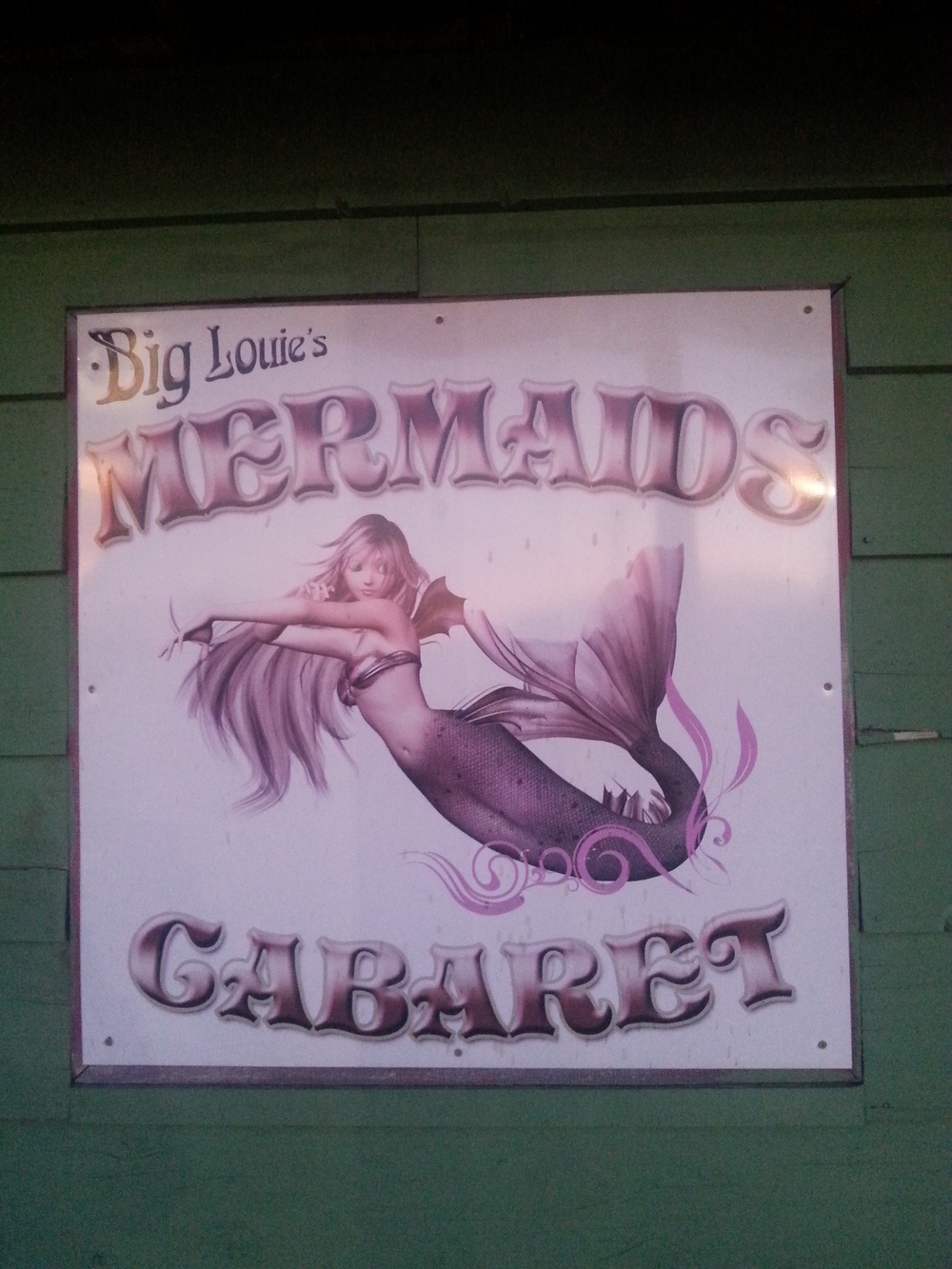 I'm assuming with real mermaids?