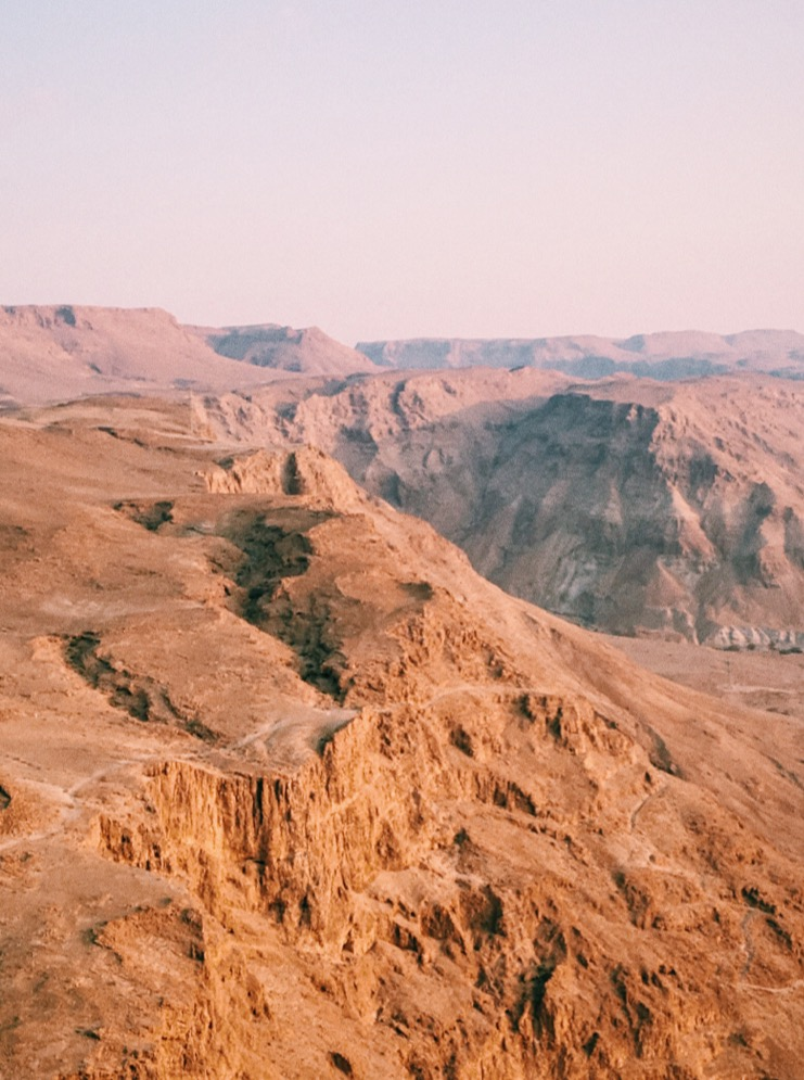 From the top of Masada!