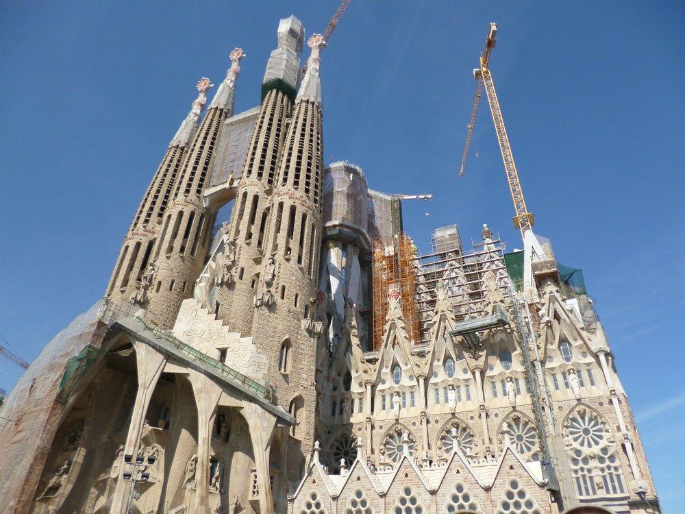 La sagrada familia en Barcelona.
