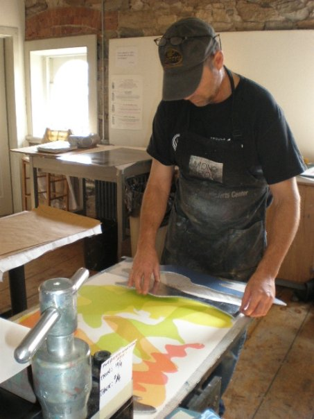 Bryan at The Center for Contemporary Printmaking