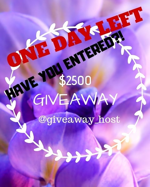 🛑ONE DAY LEFT!!!🛑 . Head over to @Giveaway_host for details how to enter this incredible giveaway!!! Giveaway will end 10/10/18 at 6pm