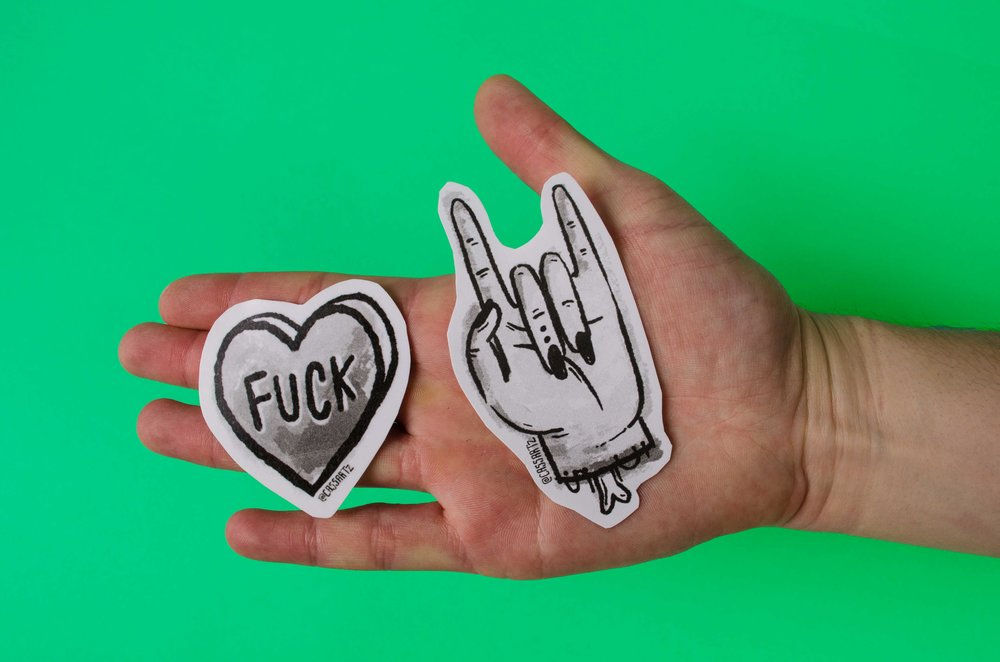 Rock N' Roll & Fuck Stickers by Cassandra Fountaine