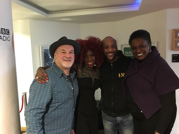 Heather Small with other guest Paul Carrack and also her two backing singers Tommy Blaize and Mary Pearce.