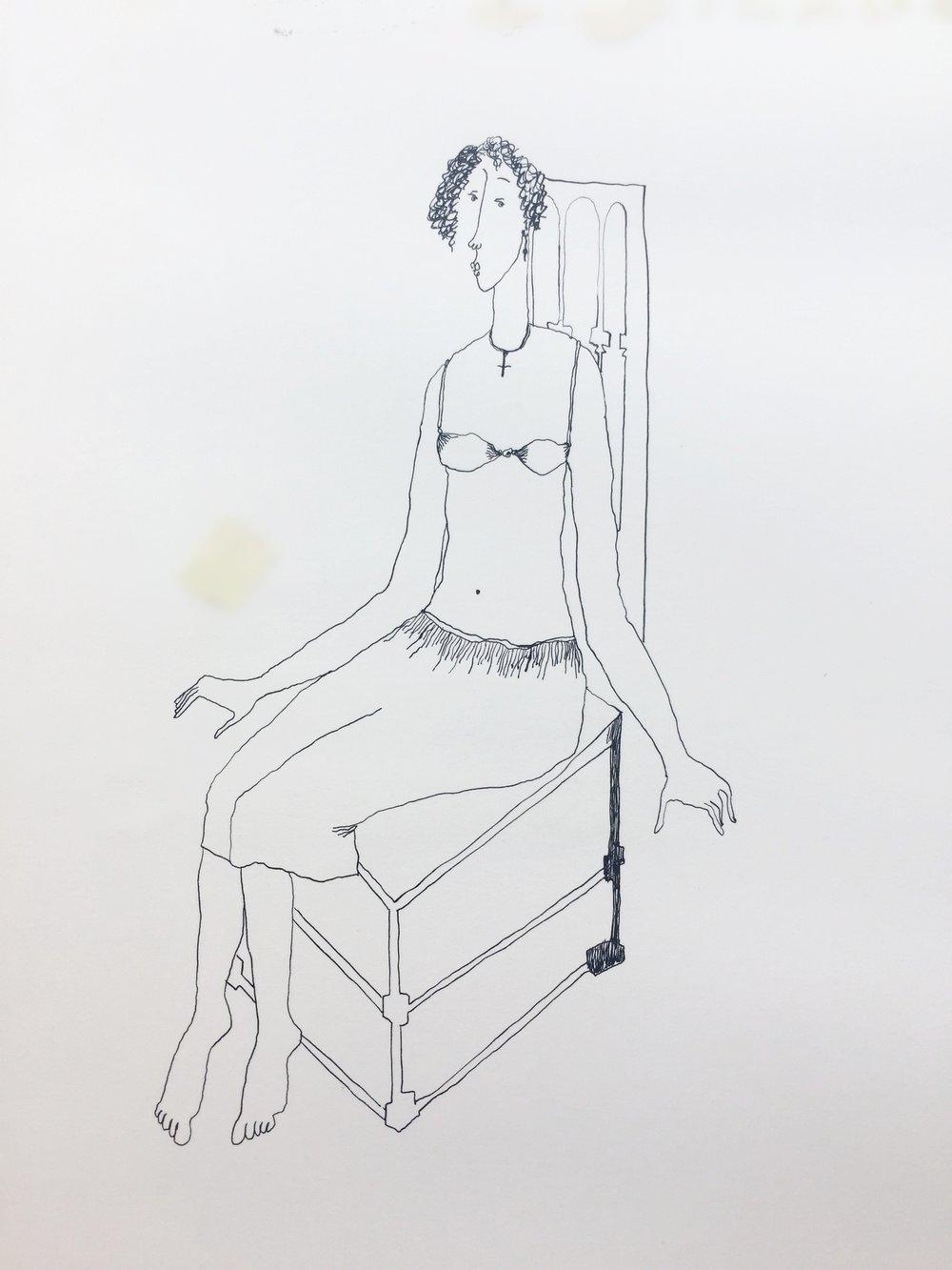 Woman in a Bra, 1988