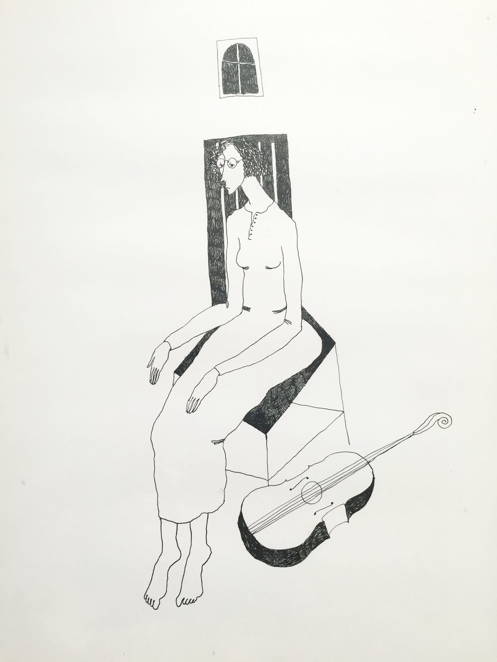 Woman with Viol, 1992