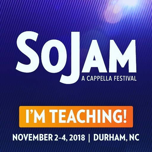 Happy #wednesday y'all! I am excited to announce I'll be an #instructor at @sojamfestival this year! Don't miss out on a weekend full of competitions, workshops and professional performances! Tickets available NOW at sojam.net/tickets! #sojam #isitnovemberyet #acappella