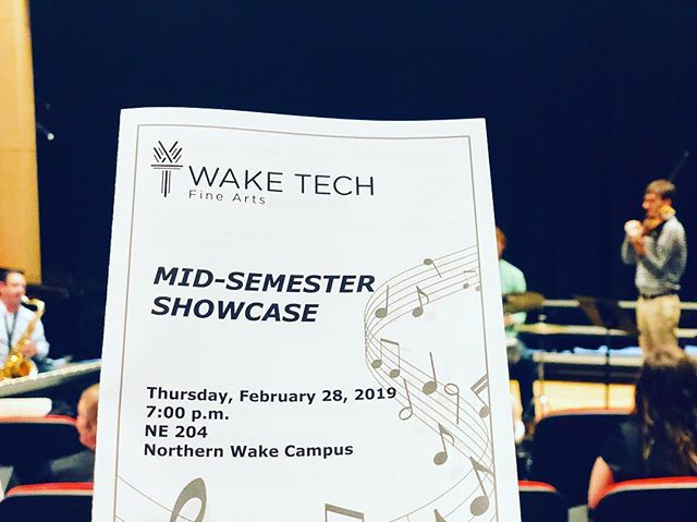 Tune in and see some incredible music (and me conducting) for the @waketechcc Mid-Semester Showcase!  https://youtu.be/xHb4wRi4eTw
